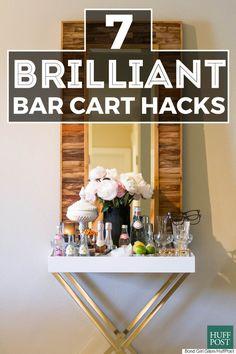 bar cart hacks