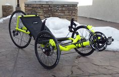 Fluorescent Yellow Catrike Expedition  from Utah Trikes