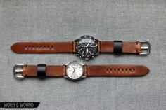 model 1 horween watch strap (worn & wound)