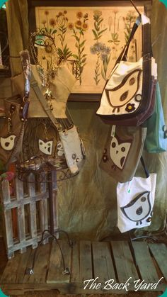 The Back Yard, now carrying Chala handbags, featured here with our Perch jewelry line. Countryside Village, Garden Shop, Boutique Shop, Backyard, Seasons, Handbags, Shopping, Jewelry, Shawl