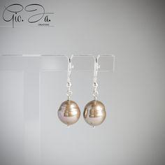 Copper Baroque Pearls Pendant Earrings