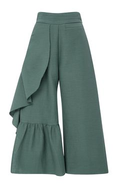 RACHEL COMEY Cropped Ruffle Revel Pants. #rachelcomey #cloth #pants