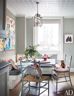 A beautiful breakfast nook will make getting out of bed in the morning that much easier