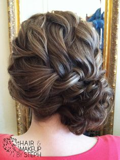 braided updo. Don't think my hair is thick enough for this, but I love it