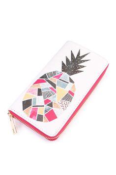 Multi Pineapple Zipper Wallet