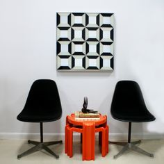 Black Eames Herman Miller Shell Chairs