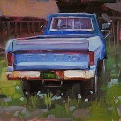"Daily Paintworks - ""Workhorse & lights"" - Original Fine Art for Sale - © Carol Marine"