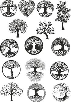 Vector ornament, decorative Celtic tree of life Ve. - Vector ornament, decorative Celtic tree of life Vector,tree digital file,tree dx… Vector ornamen - Vector Trees, Vector Art, Vector File, Body Art Tattoos, Tattoo Drawings, Muster Tattoos, Celtic Tree Of Life, Tree Of Life Symbol, Tree Of Life Meaning