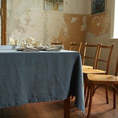 Elegant and luxurious, this Stone Washed Blue Linen Tablecloth is made of high quality natural material. Browse other products available in range or contact LinenMe to get a quote for a bespoke service. Checkered Tablecloth, Linen Tablecloth, Table Linens, Design Shop, Bleu Indigo, Brooklyn Apartment, Textile Texture, Decorative Pillows, Home Improvement