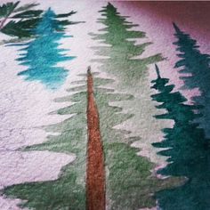 lovecold art/ watercolor forest