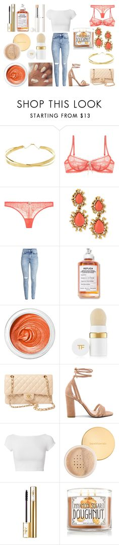 """""""Без названия #4523"""" by southerncomfort ❤ liked on Polyvore featuring Lana Jewelry, Elle Macpherson Intimates, Oscar de la Renta, H&M, 3ina, Tom Ford, Chanel, Raye, Helmut Lang and Bare Escentuals"""