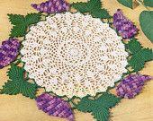1953 Grape Doily Vintage Crochet Pattern PDF 050
