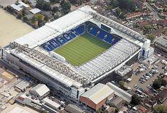 White Hart Lane, home of Tottenham Hotspur, in Middlesex. English Football Stadiums, British Football, White Hart Lane, Fifa, Champions League, Football Ticket, Football Tops, Arsenal Football, Football Stuff