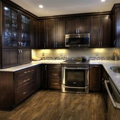 Dark Wood Cabinets DC Row Home Kitchen   Range   Traditional   Kitchen    Other Metro   Synergy Design U0026 Construction