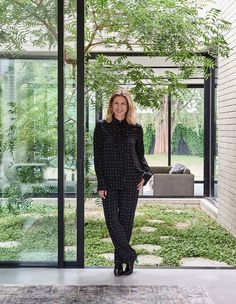 Dana is the creative director and owner of silk wardrobe-essentials label Banded… Indoor Courtyard, Internal Courtyard, Courtyard House, Indoor Garden, Courtyard Design, Brunswick House, Casa Patio, Pistachio Tree, Breezeway
