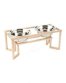 dog feeders in wood - Pesquisa Google