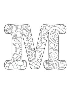 Letter M Funky By ColorMeCrispy On Etsy Find This Pin And More Zentangle Letters
