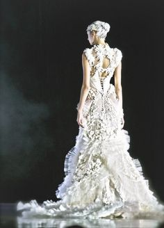 Alexander McQueen - the skirt is completely fabulous. I want a wedding dress like this