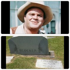 Dan Blocker buried at Woodman Cemetery, Dekalb, Texas