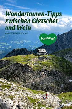 Idyllische Täler, aussichtsreiche Berge und plätschernde Bäche – ein Wanderurlaub in der Steiermark kann so vielfältig sein. Um die Suche zu erleichtern, haben wir uns ein paar Wandertouren etwas genauer angesehen … und natürlich haben wir auch Geheimtipps parat. Nature, Travel, Wine Country, Summer Vacations, Ski, Road Trip Destinations, Hiking, Naturaleza, Viajes