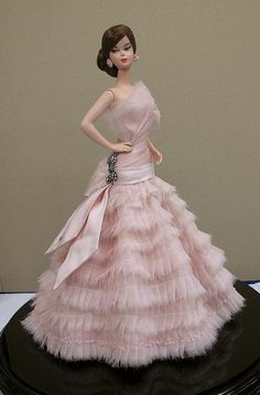 Silkstone doll in beauty pink gown