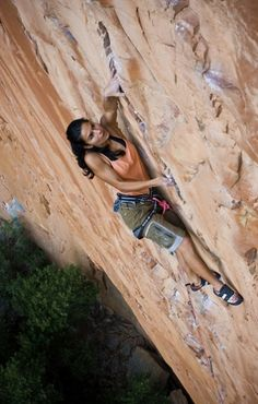 Naureen Goheer on The Great Beyond, 7b+ 5.12c, South Africa photo: Micky Wiswedel