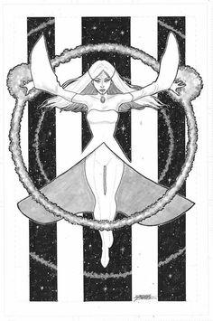 White Witch commission by George Perez Legion Of Superheroes, George Perez, White Witch, Fantasy Fiction, Dc Comics Characters, Classic Comics, Comics Girls, Dc Heroes, Hero Arts