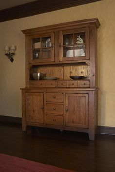 Attic Heirlooms Natural Oak China Hutch And Buffet