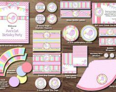 Little Birdie Party Package - Sweet Bird Party Package - Little Bird 1st Birthday PRINTABLE Party Pack -Girl Theme Turning One Tweet Tweet