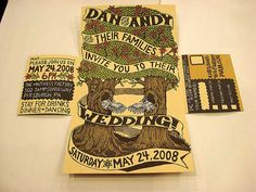 tree invitations | Invitation Design with Romantic Tree Themes DIY Wedding Invitation ...