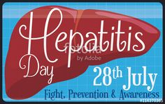 Medical Banner of Healthy Liver Scanning for World Hepatitis Day