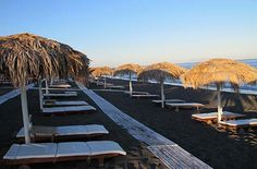 Beaches | Santorini Island Guide | Find here all information about ... Perivolas Beach - black sand