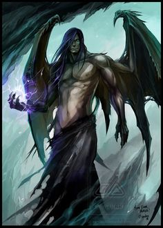 Male Angel Warriors   The angels sanctuary: Fallen angel - Muscle shirtless angel with ...