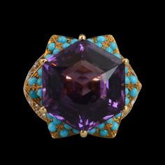 CARTIER, Paris 1989 Amethyst, Turquoise and diamond ...