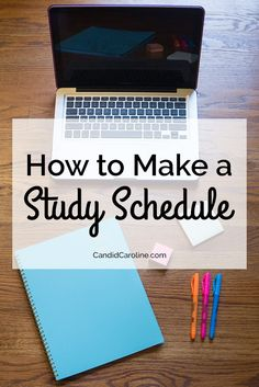 Making a study schedule is a quick and easy way to plan out your time during weeks when you can't afford to waste any! Great study tips for college students. College Hacks, School Hacks, College Life, School Tips, Study College, College Goals, College Ready, College Success, Planning School