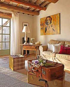 Salon casa de campo en Girona