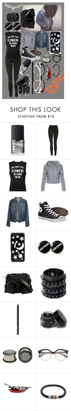 """Untitled #922"" by sleeping-horizon-empires ❤ liked on Polyvore featuring NARS Cosmetics, Topshop, 6397, Dolce&Gabbana, Converse, Edie Parker, Balenciaga, Mia Bag, Hot Topic and Bling Jewelry"