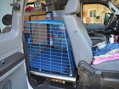 Image result for truck extended cab dog crate Pet Sitting, Dog Travel, Road Trip, Pets, Truck, Fun, Dog Stuff, Mary, Birds