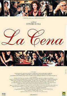 LA CENA 1998 Ettore Scola con Vittorio Gassman, Giancarlo Giannini, Stefania Sandrelli, Fanny Ardant.
