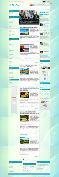 NetZine - Download Free WordPress Theme by NewWpThemes