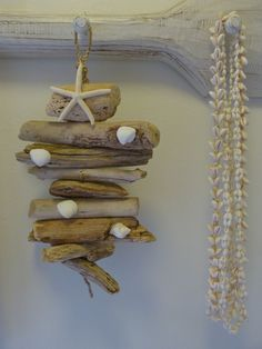 Small driftwood mobile beachcomber: driftwood love