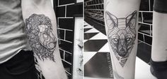 Artistic Animal Tattoos  Tattoo artist Nouvelle Rita creates stunning artistic and geometrical tattoos representing animals. Made from thin lines and geometric shapes judiciously drawn in order to paint animals silhouettes. Beautiful little artworks that ornament the skin of tattoos fans.             #xemtvhay