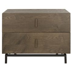 Rustic yet contemporary, the Herschel cabinet brings a masculine edge to a living room or bedroom. Crafted with dark brown wood chest of two drawers resting on a black frame, Herschel offers much-needed storage to help you get organized. Black End Tables, Wood End Tables, Side Tables, Contemporary Cabinets, Wood Chest, Brown Wood, Dark Brown, Dark Wood, Herschel