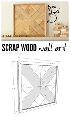Scrap Wood Wall Art - Doing Wood Work wood art projects - Wood Crafts Scrap Wood Art, Scrap Wood Crafts, Scrap Wood Projects, Art Projects, Pallet Projects, Project Ideas, Fine Woodworking, Popular Woodworking, Woodworking Projects