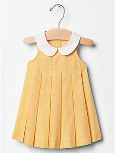 Contrast-collar dot dress from Baby gap. If I was having a girl....