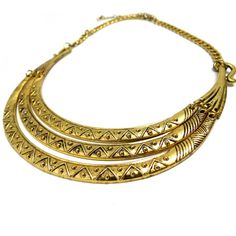 Layered Gold Neckpiece, for that tribal ethnic chic look...! $37