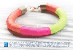 I Spy DIY: [MY DIY] Neon Wrap Bracelet