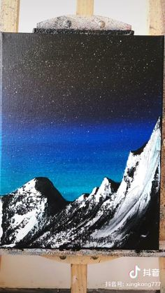 Small Canvas Paintings, Scenery Paintings, Easy Canvas Art, Small Canvas Art, Acrylic Painting Canvas, Easy Nature Paintings, Mountain Paintings, Canvas Painting Tutorials, Painting Techniques