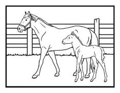 Free Kids Coloring Pages & Cards: Horses - Kids Printable Activities & Word Puzzles - Kaboose.com