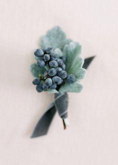 Winter berry boutonnière